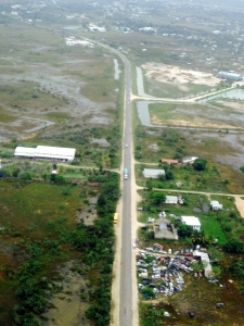 Photo of the Northern Highway taken near the Belize Int'l Airport: Nov 2013