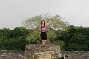 Standing at the top of one of the ruins at Altun Ha: Nov 2013